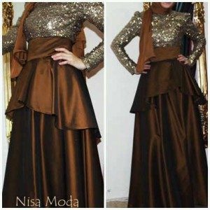 Sequin Party Coklat tua