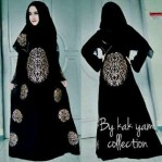 Abaya Kaligrafi By Kak Yam Collection